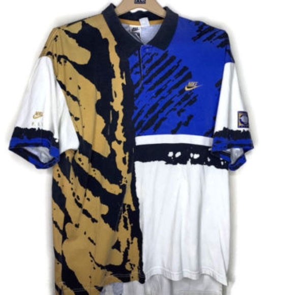 06f114f4 Nike Shirts   90s Challenge Court Tennis Polo Shirt Agassi   Poshmark